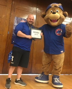Clark the Cubs Mascot Visits Goudy!!!